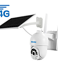 cheap -ESCAM QF450 1080P Cloud Storage 4G Sim card  Battery PIR Alarm dome IP Camera With Solar Panel Full Color Night Vision Two Way Audio IP66