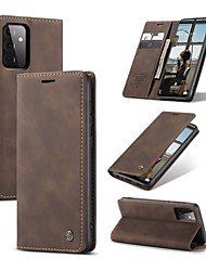 cheap -CaseMe Flip Case For Samsung Galaxy S21 Plus S21 Ultra S20 Plus A52 A72 Soft Slim Folio Flip PU Leather Wallet Case with 2 Cards Slot For Samsung Galaxy A51 A71 A12 Note 20 Ultra