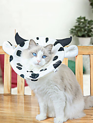 cheap -Dog Cat Pet Cone Pet Recovery Collar Elizabeth circle Adjustable Stress Relieving Safety Anti-Bite Lick Wound Healing After Surgery Protective Walking Milk Cow Cotton Small Dog Black / White