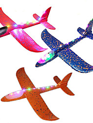 cheap -3 Pack Giant Kids Airplane Toy 18.9 inch Large Throwing Foam Plane LED Light Up Flight Mode Glider Planes Flying Toy Gifts for 3 4 5 6 7 Year Old Kids Boys girls Outdoor Sport Game Toys