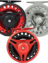 cheap -aventik cnc-machined aluminum trout carbon disc 3/5, 5/7,7/9wt fly fishing reel large arbor (black frame+red spool, 3/5)