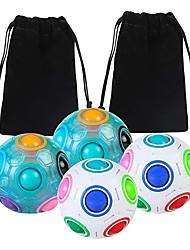 cheap -Rainbow Ball Rainbow Ball Magic Cube Puzzle Toy Brain Teaser with 11 Rainbow Colors 4 Pack