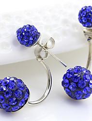 cheap -crystal ball earrings style exquisite ear jewelry, rear hanging style shambhala diamond ball earrings