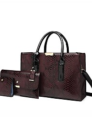 cheap -Women's Bags Bag Set Top Handle Bag 3 Pcs Purse Set Date Office & Career Bag Sets Handbags Black Brown