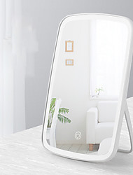 cheap -New Style Makeup Mirror Female Desktop Led With Light Portable Folding Light Makeup Mirror Dormitory Desktop