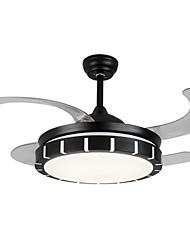 cheap -LED Ceiling Fan Light 107 cm Single Design Ceiling Fan ABS Artistic Style Modern Style Stylish Black LED 110V-120V 220V-240 V