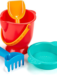 cheap -Sand Toy Set Including Bucket Sifter Rake and Shovel Toys Multicolor Gift Outdoor Toys for Kids Boys Girls