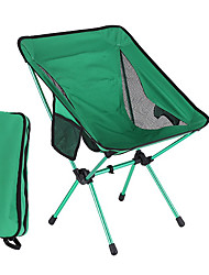 cheap -Camping Chair with Side Pocket Portable Ultra Light (UL) Foldable Breathable Oxford Cloth Aluminum Alloy for 1 person Fishing Beach Camping Traveling Autumn / Fall Winter Green / Comfortable