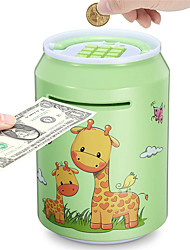 cheap -Electronic Kids Piggy Bank, Great Gift Large Cartoon ATM Saving Bank with Password for Children Boys Girls, Auto Money Scroll Cash Coin Saving Box, with Music and Lights (Blue/Green/Pink)