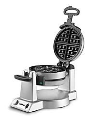 cheap -waf-f20 double belgian manufacturer waffle iron, silver
