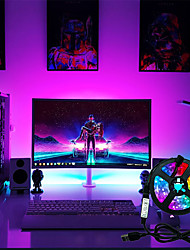 cheap -LED Strip Lights Set Flexible Lamp 1M 2M 3M 4M 5M Tape Diode SMD 5050 DC5V Desk Screen TV Background Lighting USB Cable 3 Key Control IP65