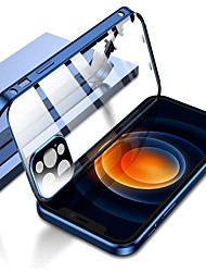 cheap -Double Safety Lock Case for iPhone 13 12 Pro Max Mini Bumper Case with Camera Lens Protector Double Sided Glass 360 Full Body Metal Frame Clear Cover For iPhone 11 Pro Max XS MAX XR X