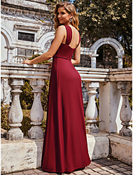 cheap -A-Line Straps Floor Length Taffeta Bridesmaid Dress with Ruching
