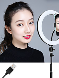 """cheap -10"""" LED Ring Light Dimmable LED with Tripod Stand With Phone Holder 3 Color Lighting Modes Height Adjustable for Photography Tiktok Youtube Video Makeup Live Streaming"""