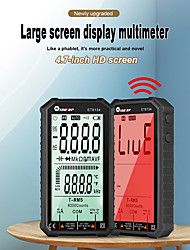cheap -tooltop et8134 4.7 inch high definition lcd screen multimeter direct current voltage current ac voltage current measurement
