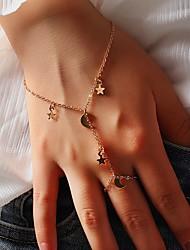 cheap -Women's Gold Chain Bracelet Classic Moon Star Stylish Alloy Bracelet Jewelry Gold For Festival