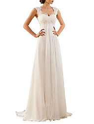 cheap -h.s.d women's sweetheart lace empire chiffon long wedding dress bridal gown ivory