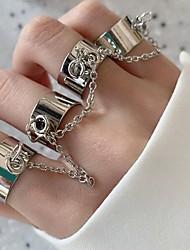 cheap -Multi Finger Ring Link / Chain Silver Alloy Rabbit Bear Butterfly Rock 1pc Adjustable / Women's / Men's