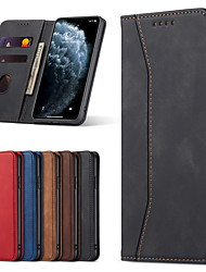 cheap -PU Leather Wallet Case for iPhone 12 Pro Max 11 SE 2020 X XR XS Max 8 7 6 Retro Stylish Folio Flip Cover Strong Magnetic Closure Card Slots Kickstand Shockproof Protective Case