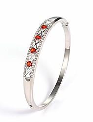 cheap -almusen women hollow bangle cubic zirconia stones jewelry for women with crystal bracelet birthday women teen girls women girls valentine's day gifts with elegant jewelry box