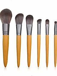 cheap -makeup brush professional makeup brushes 6 pcs travel makeup brush set for daily use brush sets (color : wood color, size : 12x18x2.5cm)