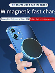 cheap -15W Magsafe Wireless Charger For iPhone 12 Compatible with iPhone Ultra-thin Charger For Huawei Samsung Xiaomi
