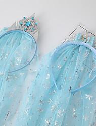 cheap -princess aisha headband hair accessories crown large veil headband frozen blue children's snowflake veil head jewelry