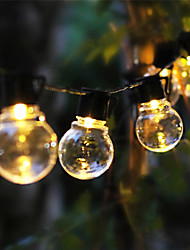 cheap -LED Solar String Lights 6M 30 Bulbs Outdoor Wedding String Lights Solar Powered Waterproof Garden Ball String for Christmas Wedding Party Layout Garland Garden Patio Décor Lamp