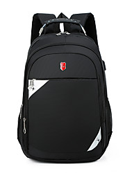 cheap -Men's Oxford Cloth Commuter Backpack Large Capacity Zipper Traveling Office & Career Black Red Gray