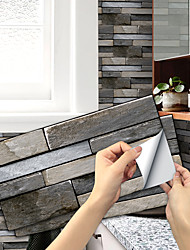 cheap -Imitation Stone Tile Kitchen Bathroom Self-adhesive Paper Waterproof And Oil-proof Palm Black Mountain Rock Flaky Self-adhesive Decorative Wall Stickers