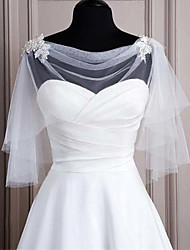 cheap -Sleeveless Elegant / Bridal Polyester Party / Party / Evening Women's Wrap With Embroidery