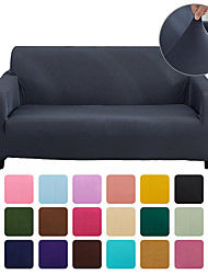 cheap -Pure Color Solid Stretch Slipcover Spandex Jacquard Non Slip Soft Couch Sofa Cover With One Free Boster CaseWashable Furniture Protector with Non Skid Foam and Elastic Bottom for Kids