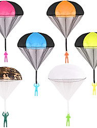 cheap -6PCS Parachute Toy Tangle Free Throwing Hand Throw Flying Toys No Battery for Children Kids Outdoor Play Gifts