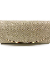cheap -Women's Bags Polyester Evening Bag Solid Color Daily Handbags Black Champagne Gold Silver