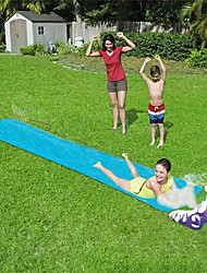cheap -Lawn Water Slides Slip and Slide for Kids Lawn Garden Play Swimming Pool Games Outdoor Party Water Toys-Blue