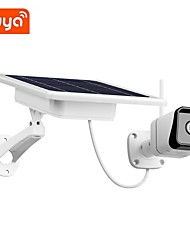 cheap -hot wifi tuya solar low power battery camera night vision microwave motion detected outdoor ip cam smart life app control