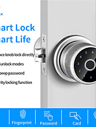cheap -WAFU (WF-Q1)Fingerprint Door Lock TT Lock Bluetooth Digital Keyboard Smart Card Combination knob Lock For Home / Office / Hotel DIY Lock