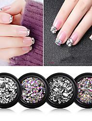 cheap -Nail Art Jewelry Set Nail Rhinestone Set Mixed Luxury Square Diamonds Vibrato Nail Flat Rhinestone Shaped Nail Art