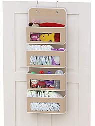 cheap -Fabric Bedroom Storage Bag Clothes Bag Hanging Sorting Bag Wardrobe Underwear Storage Hanging Bag 4 Layers