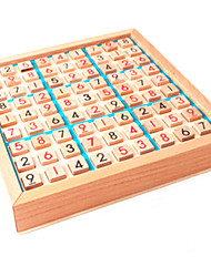 cheap -Wooden Sudoku Board Game Montessori Toy Math Learning Board Puzzle Board Toy Mathematical Thinking Game with Drawer