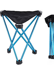 cheap -Camping Stool Tri-Leg Stool Portable Ultra Light (UL) Foldable Comfortable Aluminum Alloy for 1 person Fishing Beach Camping Traveling Autumn / Fall Winter Blue