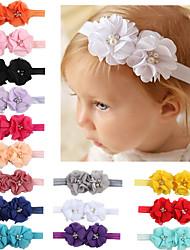 cheap -Kids / Toddler Girls' Fashion Baby Headband Two Hand-Stitched Chiffon Rhinestone Floral Headband Children's Flower Headband Hair Accessories