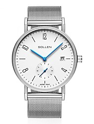 cheap -Men's Steel Band Watches Analog Quartz Formal Style Calendar / date / day / One Year