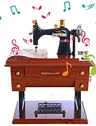 cheap -Music Box Sewing Machine 1 pcs Gift Home Decor Resin For Kid's Adults' Boys and Girls