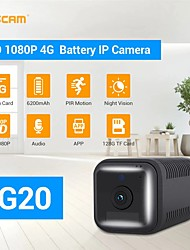 cheap -ESCAM G20 2MP 1080P Full HD Rechargeable Battery PIR Alarm 4G life Sim Camera for Euro Country Security CCTV Monitor