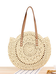 cheap -Women's Bags Tote Straw Bag Bohemian Style Solid Color Daily Holiday Straw Bag Handbags Brown Beige