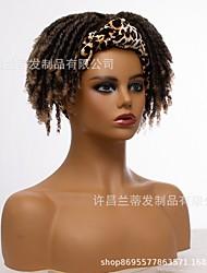 cheap -new style headband wig fashion dirty braid wig crochet chemical fiber headgear