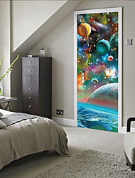 cheap -Holiday / Landscape Wall Stickers Bedroom / Living Room, Removable Vinyl Home Decoration Wall Decal 2pcs