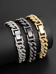 cheap -Bracelet Cuban Link Wave Trendy Alloy Bracelet Jewelry Silver / Gold / Black For Gift