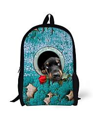 cheap -Unisex Polyester School Bag Commuter Backpack 3D Shock Absorption Breathable Zipper Animal School Backpack Yellow Khaki Light Green